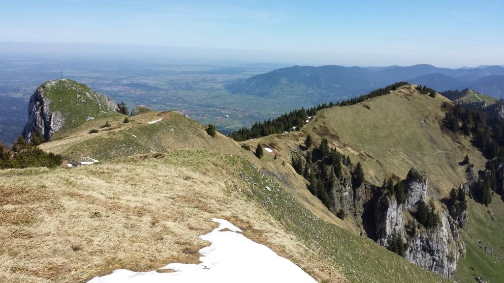 Felsköpferl mit Blick Richtung Brauneck