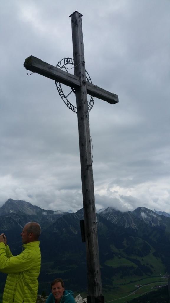 Gipfelkreuz am Breitenstein/Allgäu