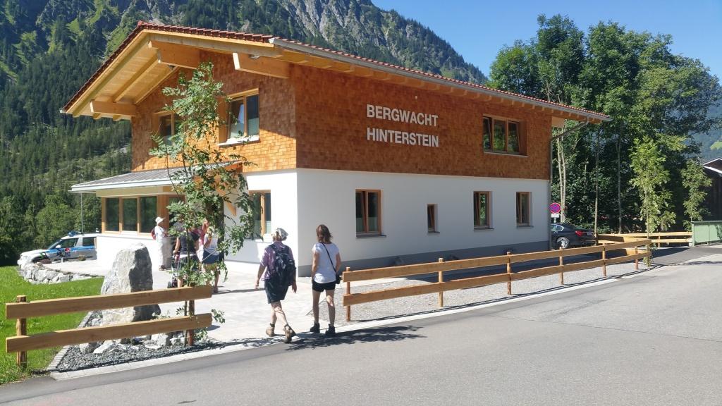 Das neue Bergwacht Haus in Hinterstein