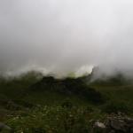 Hereinziehendes Gewitter beim Schrecksee. Von Sonne bis dickstem Nebel innerhalb weniger Minuten