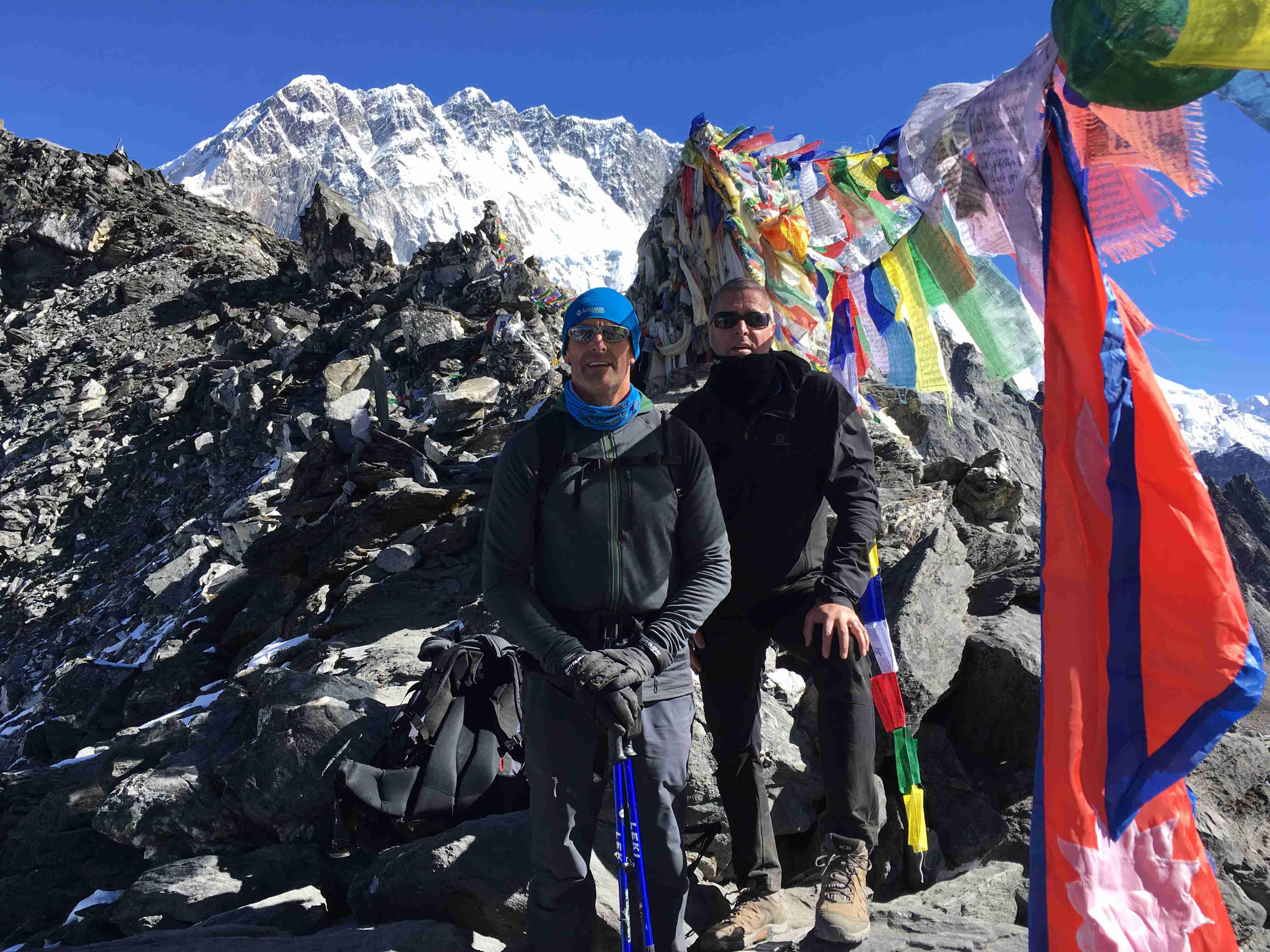 Ian und sein Bruder in Everest Region im Himalaja