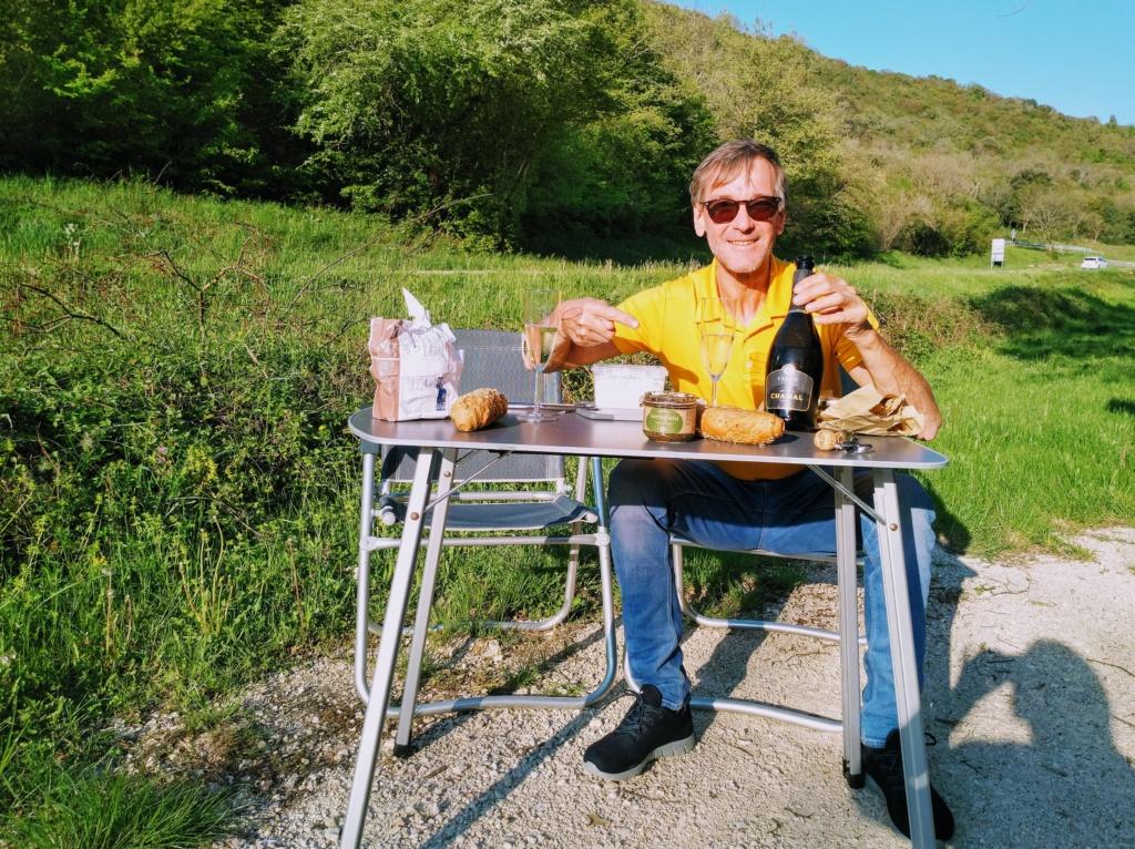 Vesper am Limskikanal mit Käse aus Zminj und Spumante von Fakin