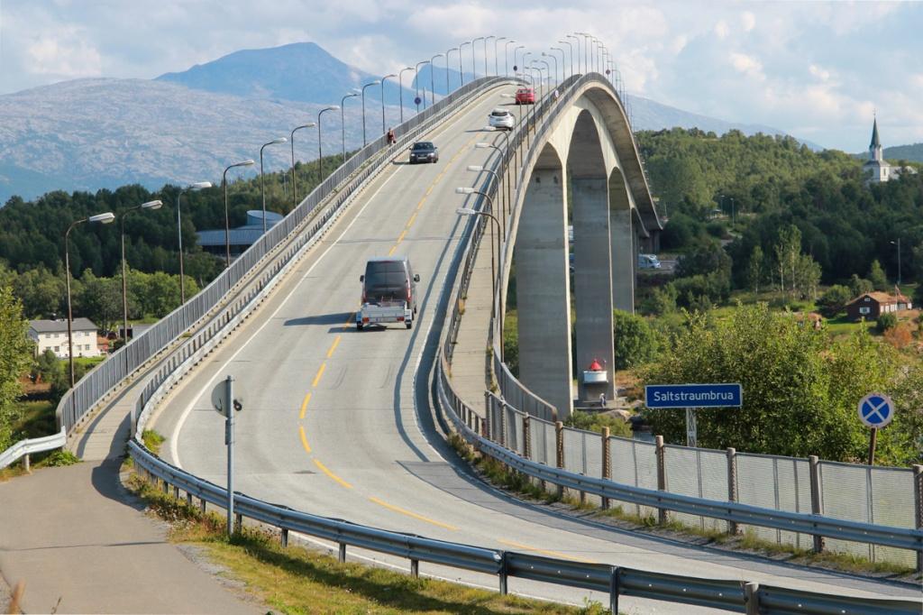 Die Saltstaumenbrücke nahe Bode - eine Herausforderung für Radler.